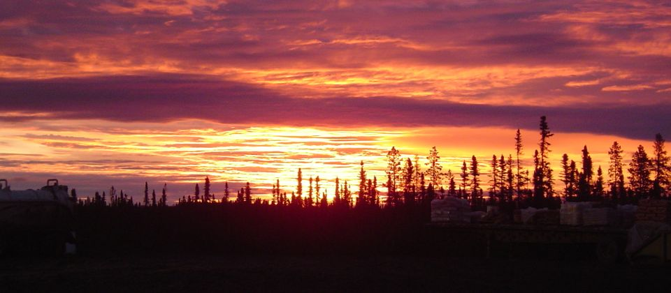 Sunrise at end of night shift on the oil rigs, Canada, 24 yrs old