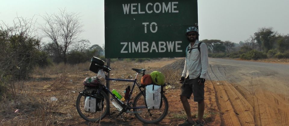 Cycling 2,500km unsupported through Southern Africa, Zimbabwe, 29 yrs old