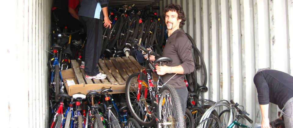 Teaming up with Bicycles for Humanity for Africa, Melbourne, Australia, 29 yrs old