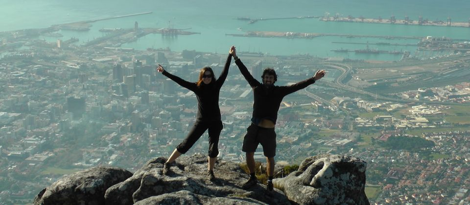 On top of Table Mountain with my wife Mandy, South Africa, 29 yrs old
